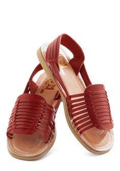 Deck Designer Sandal in Red, #ModCloth
