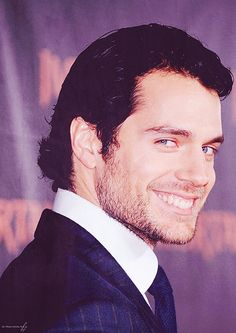 Henry Cavill. I should really make a Henry Cavill Appreciation board to go with my Henry Cavil Appreciation life.