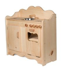 Christina's Wooden Play Kitchen. Handmade in Maine. Charming! $209.95