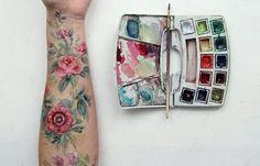 Imagem de art, flowers, and paint