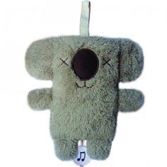 Keith de Koala  Baan: Disc Jockey  Houdt van: kletsen en grijze pyjama's  Houdt niet van: Ochtenden en glitters  We kunnen dit muziekdoosje gratis voor je in pakken.  Met de hand wassen en laten drogen aan de lucht.