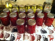 Cinnamon Pickles Cinnamon Pickles, Pickels, Canning Recipes, Homemaking, Salsa, Jar, Fresh, Food, Home Economics