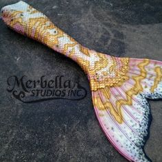Merbella studios custom design silicone mermaid tail pink,gold, black and pearl Mermaid Fin, Mermaid Tale, Pink Mermaid Tail, Mermaid Board, Tattoo Mermaid, Real Life Mermaids, Mermaids And Mermen, H2o Mermaids, Fantasy Mermaids