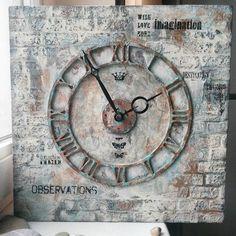 Часы в стиле Лофт.