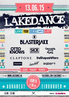 JUNE 13TH AND AUGUST 8tH 2015 #lakedance #aquabest #eindhoven