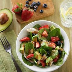 I'm checking out a delicious recipe for Strawberry and Avocado Spinach Salad from Fry's!