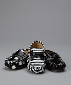 Look what I found on #zulily! Black & White Loafer Set #zulilyfinds