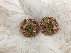 Autumn  Rhinestone Earrings by GumboCreations on Etsy, $25.00