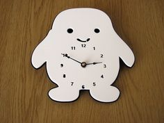 Adipose Clock by Alantronics, ~30 bucks with shipping via Etsy. Perfect kitchen clock. If you are a Doctor Who fan, I mean.