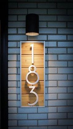 lighted house number plaque