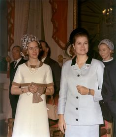 forums.soompi:  Queen Fabiola and Princess Grace, Brussels, March 23, 1969
