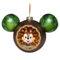 Chip 'n Dale Glass Mickey Mouse Icon Ornament Mickey Mouse Christmas Tree, Disney Christmas Ornaments, Peanuts Christmas, Christmas Things, Christmas Trees, Christmas Decorations, Disney Diy, Disney Crafts, Disney Stuff