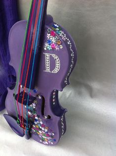 My daughters first violin I painted and decorated and gave it to her for her 25th birthday