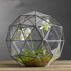 Suculentas Micro-ver caja de cristal de metal macetas jardineras macetas de metal vidrio de escritorio decoración Geométrica arte jarrones decoración