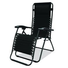 Zero Gravity Chair Lounge Patio Outdoor Folding Black Caravan Sports Infinity  | Home & Garden, Yard, Garden & Outdoor Living, Patio & Garden Furniture | eBay!