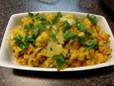 Cauliflower bhaji with cilantro