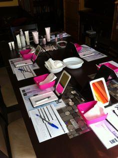 Mesa para uma sessão magistral de cuidados da pele.  Www.marykay.pt/claudiajunho ♥