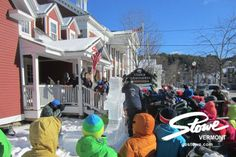Friday, January, 24, 2014: Ice carvers are all over Stowe, Vermont today. They're here for the 14th Annual Nationally Sanctioned Ice Carving Competition at Stowe Mountain Resort. Competition begins Saturday!