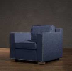 Petrie Leather Chair In Chairs Crate And Barrel The