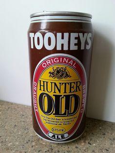 TOOHEYS HUNTER OLD Beer Empty Alum Beer Can 375 ML