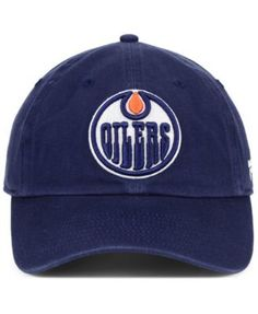 15e351a424f Authentic Nhl Headwear Edmonton Oilers Fan Relaxed Adjustable Strapback Cap  - Blue Adjustable