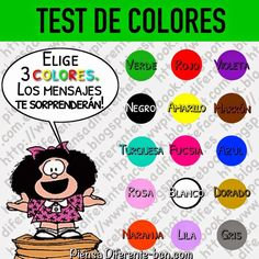 Quizors - Test your knowledge! Mafalda Quotes, Color Test, Coaching, Psychology Facts, Emotional Intelligence, Projects To Try, Snoopy, Colours, Entertaining