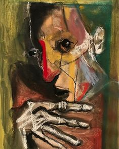 Painting Inspiration, Art Inspo, Art Alevel, Abstract Painting Techniques, Abstract Face Art, Arte Horror, Glitch Art, Museum Of Contemporary Art, Figure Painting