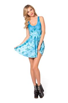 Here Be He Dragons Scoop Skater Dress (48HR) by Black Milk Clothing $85AUD
