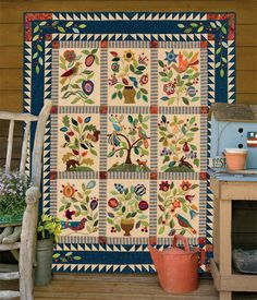 """It's WISH-LIST DAY! Get a sneak peek at new books coming in 2014, like this jaw-dropping quilt from """"My Enchanted Garden"""" by Gretchen Gibbons. There's so much more—click through to see all 15 new releases."""