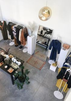 Sustainable + ethical women's boutique Hazel & Rose is moving from the Northeast to Borealis North Loop in August Clothing Store Interior, Concept Shop, Boutique Decor, Store Interiors, Retail Store Design, Loft Spaces, Store Displays, Shop Interior Design, Showroom