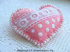 Pink Felt Heart More