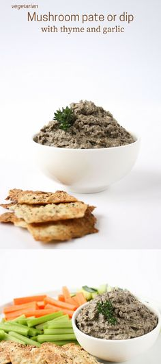 This oh-so-mushroomy vegetarian pate flavoured with thyme and garlic makes a wonderful addition to your next party platter!