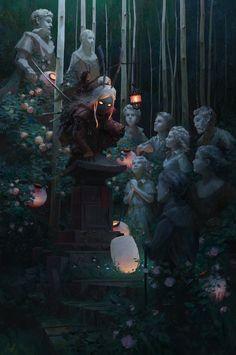 Beautiful Science Fiction, Fantasy and Horror art from all over the world. Fantasy Concept Art, Fantasy Artwork, Dark Fantasy, Medusa, Arte Van Gogh, Fantasy Landscape, Fantasy Inspiration, Horror Art, Dark Art