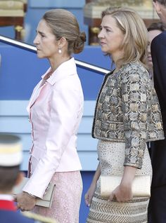 Royal Sisters.. - Infanta Elena and Infanta Cristina... Their brother is the new king of Spain. King Felipe VI.