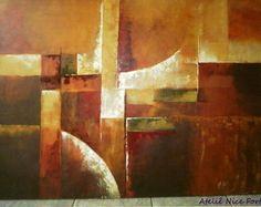 Pintura em tela em Acrílico Abstrato                              …