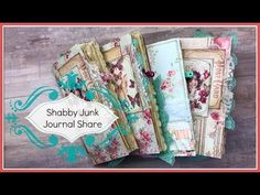 Junk Journal Share: Shabby TN Notebooks (Sold) - YouTube