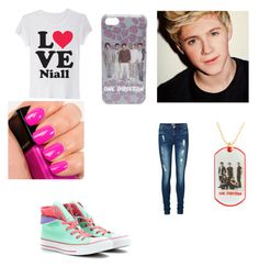 """""""Niall Horan"""" by kylee-bannister ❤ liked on Polyvore featuring Wet Seal, Vero Moda, Illamasqua and Converse"""