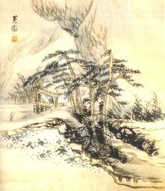 (Korea) 송정아회 by Hyewon Shin Yun-bok (1758- ? ). color on paper. color on paper. 37.8×32.6cm. Gansong gallery, Korea.