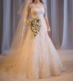 Cheap wedding gowns, Buy Quality bride gowns directly from China sleeved wedding Suppliers: Elegant A-line Vestidos De Novia Wedding Gowns brautkleid Lace Long Sleeves Wedding Dresses Robe De Marrige bride Gown Lace Wedding Dress With Sleeves, Wedding Dress Train, Country Wedding Dresses, Long Wedding Dresses, Long Sleeve Wedding, Princess Wedding Dresses, Cheap Wedding Dress, Bridal Dresses, Weeding Dresses