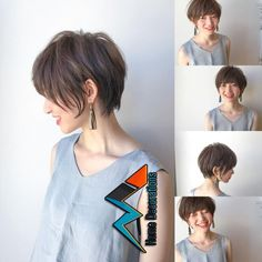 Image may contain: 3 people Asian Short Hair, Medium Short Hair, Girl Short Hair, Short Hair Cuts, Short Hairstyles For Women, Hairstyles Haircuts, Pretty Hairstyles, Shot Hair Styles, Pin On