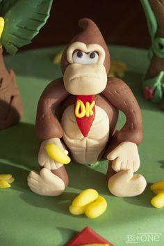 donkey kong cake detail