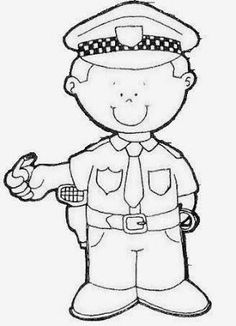 Fall Preschool Activities, Preschool Worksheets, Preschool Crafts, Art Drawings For Kids, Disney Drawings, Drawing For Kids, Community Helpers Crafts, Community Helpers Worksheets, Police Officer Crafts