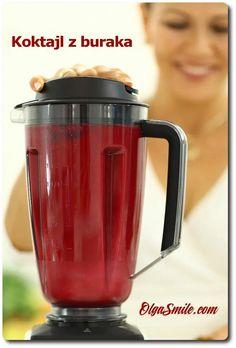 Koktajl z buraka przepis Olga Smile Juice Smoothie, Smoothie Drinks, Smoothies, Cocktail Drinks, Cocktails, Nutribullet, Beetroot, Healthy Drinks, Food And Drink