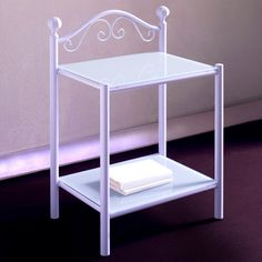 Romanza Nightstand. This nice, elegant nightstand is perfect for any shabby-chic furnished room. Its romantic shape makes it perfect for a country house, but actually, its modernity can also make it suitable to a more contemporary environment.  The wrought iron makes it a resistant, reliable piece.