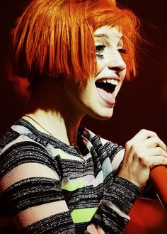 Paramore's Hayley Williams. She is the best ever!!!!!