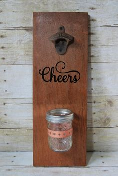 Custom Wall Mounted Bottle Opener  Reclaimed by WithAHealedHeart