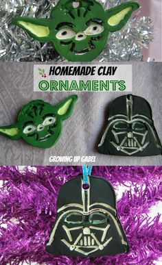 Love Star Wars? Make these fun Star Wars Christmas ornaments using a baking soda clay and craft paint! #ChristmasCrafts #DIY