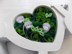 wedding decoration love ornament green heart by WonderCraftShop