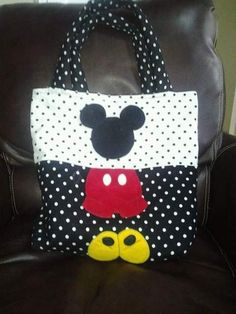 Custom Mickey Mouse Tote/Diaper Bag for by BetsysBabyBoutique19