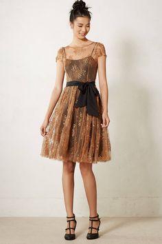 Honeyed Lace Dress #anthropologie